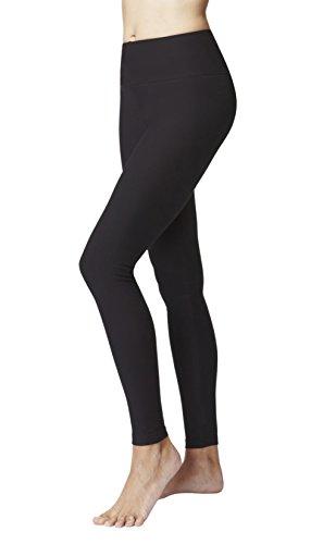 TLC Sport Women's Slimming Shaping Yoga Pants/Leggings Skinny Tights Black-M (Best Yoga Pants Uk)