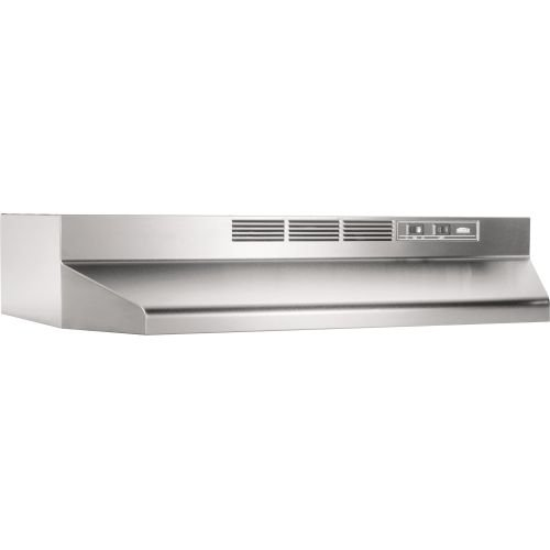 Broan 414204 ADA Capable Non-Ducted Under-Cabinet Range Hood, 42-Inch, Stainless - 42 Inch Cooktop