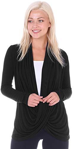 Popana Womens Casual Long Sleeve Criss Cross Fall Cardigan Plus Size Made in USA