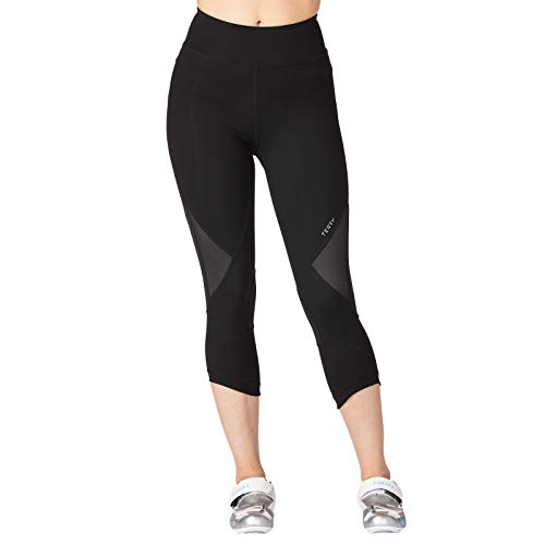 Terry New 2019 Women's Cycling Indoor Studio Capri with a Newly Designed Reticulated Chamois - Unique Technology Ideal for The Demands of Studio Training - Black - Medium