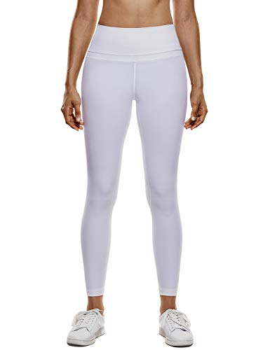 11d6111537a CRZ YOGA Women s Naked Feeling High-Rise Tight Yoga Pants Workout Leggings-25  White