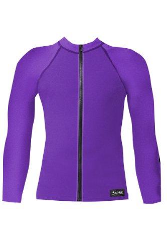 Aeroskin Raglan Long Sleeve with Fuzzy Collar and Front Zip (Purple, XXX-Large) ()