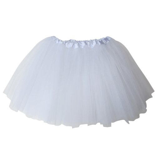 So Sydney Ballerina Basic Girls Ballet Dance Dress-Up Princess Fairy Costume Dance Recital Tutu (White) ()