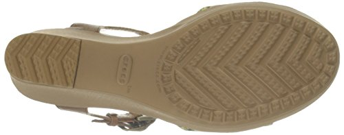 Hazelnut Crocs Wedge Eu Anklestrap Sandal gold Leighii 42 Women's 41 Graphic zSzw7Pgx