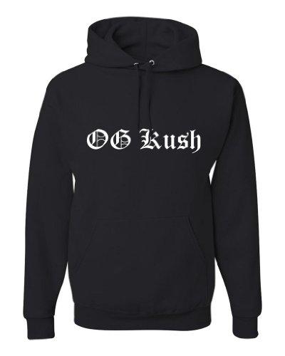 ShirtLoco Men's OG Kush Hoodie Sweatshirt, Black Medium (Clothing Ak47)