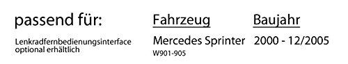 DAB+ USB Autoradio inkl JVC KD-DB67 Einbauset Mercedes Sprinter bis 2005 DAB+ Digitalradio Antenne