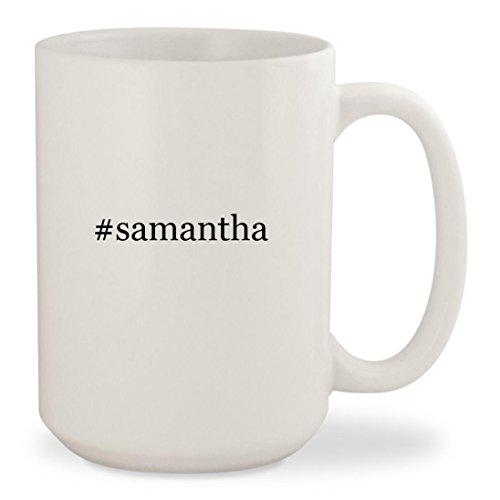 #samantha - White Hashtag 15oz Ceramic Coffee Mug Cup