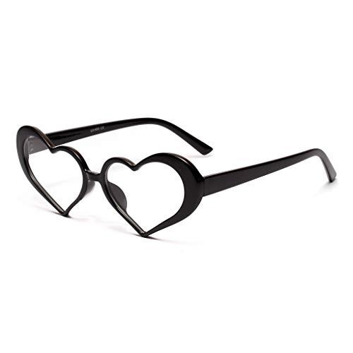 LODDD Women New Sunglasses Fashion Heart Shaped Frame Retro Eyewear ()