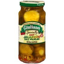 Giuliano Specialty Hot Jalapeno Dill Pickles, 16 Fluid Ounce - 6 per case. by Giulianos (Image #1)
