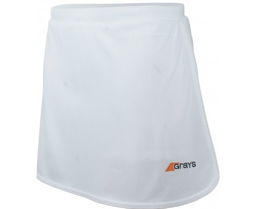 New Ladies White Grays Fashionable Designed G600 Durable Hockey Skort Size L by Only Sports Gear
