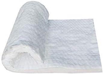 "Ceramic Fiber Insulation Blanket,1/"" 12/"" x 24/"" 2600F #8,Fireproof Insulation"