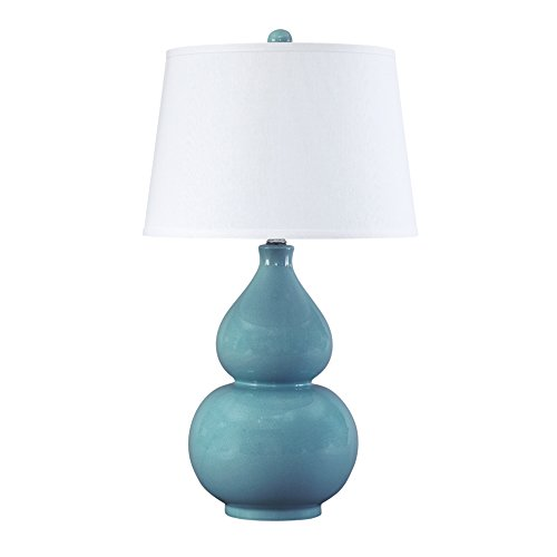 Gourd Table Ceramic Lamp (Ashley Furniture Signature Design - Saffi Table Lamp - Glazed Ceramic - Light Blue)