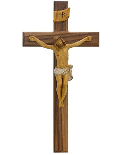 Crucifix Walnut Painted Italian Corpis product image