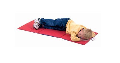 Children's Factory Economy Infection Control Folding Rest Mat - Red/Blue 3 Section Classroom Furniture (CF400-501), 3/4-Inch by Children's Factory