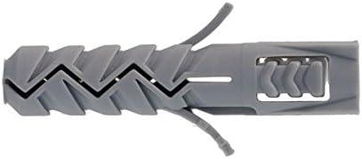 Set de 4 Pi/èces Molly M21404-XJ Chevilles nylon /Ø 14 x 70 mm Gris