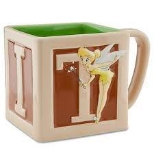 Disney Store Original TINK Tinkerbell Square Ceramic Mug