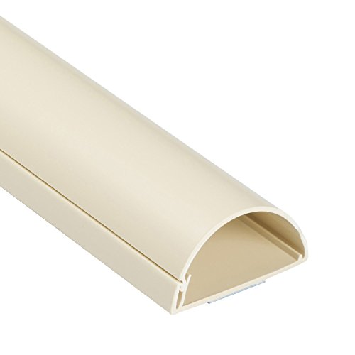 (D-Line Cable Raceway On-Wall Cord Cover | 1D5025M | Surface Mount Electrical Channel to Hide and Conceal Cords, Cables, and Wires (Maxi (Large), Beige) )