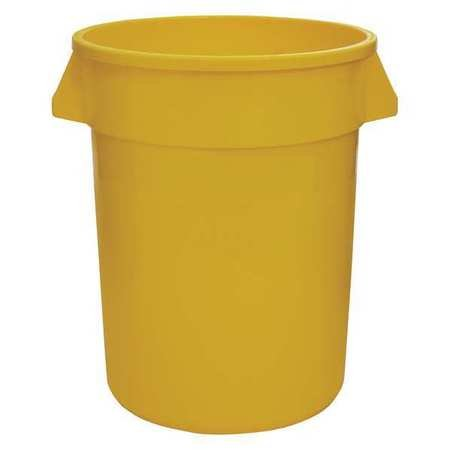 44 gal. Round Yellow Trash Can
