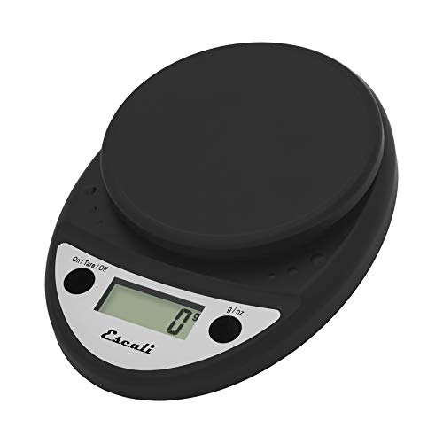 Escali Primo Precision Kitchen Food Scale for Baking and Cooking, Lightweight and Durable Design, LCD Digital Display, Lifetime ltd. Warranty