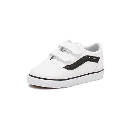 Vans Niños True Blanco / Negro Old Skool V Zapatillas True Blanco / Negro