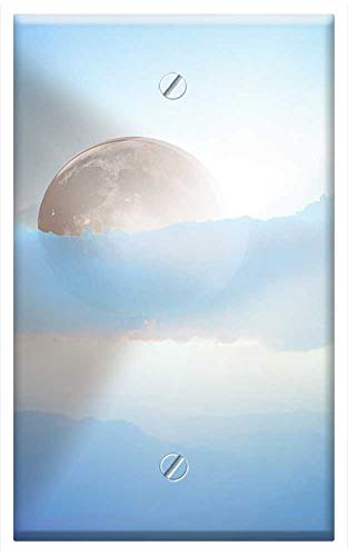 Single-Gang Blank Wall Plate Cover - Eclipse Solar Eclipse Solar Sun Astronomy Total