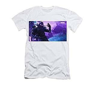 White Round Neck T-Shirt For Boys