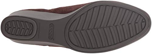 Boot Espresso Crocs Leigh Women's Chelsea Wedge wXITzq