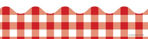 Red Gingham Borders