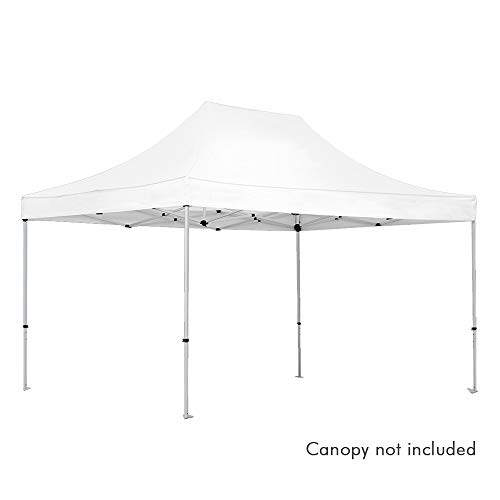 Vispronet - 10ft x 15ft Commercial-Grade Tent Frame - Silver Aluminum 10ft x 15ft Pop Up Canopy Frame (Frame Only, Canopy Top not Included)