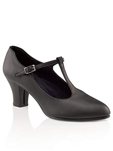Capezio Women's T-Strap Character Shoe,Black,8 M US