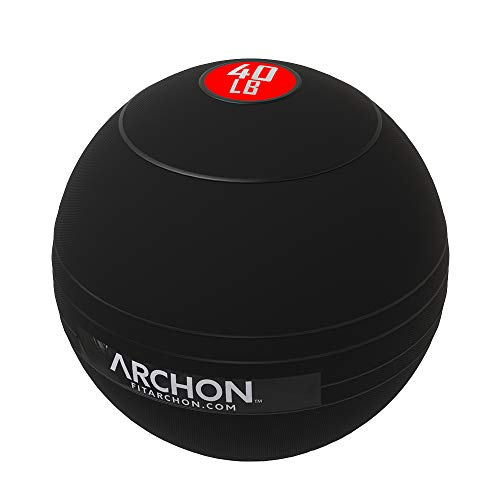 ARCHON Training Slam Ball 40 LB | Crossfit Workout | No Bounce Exercise Ball | Gym Equipment Accessories | Plyometric Exercise | Cardio | Jam Ball | Squats | Medicine Ball 40 LBS