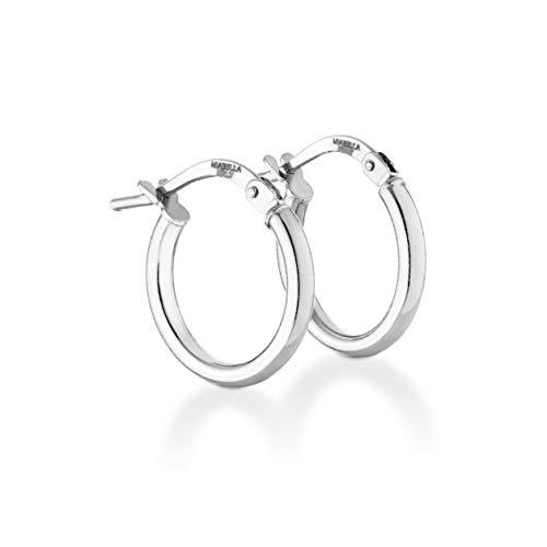 (Miabella 925 Sterling Silver Italian 2mm Polished Round Hoop Earrings for Women Men 15mm, 20mm, 30mm, 40mm (15))