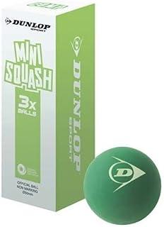 Nouvelle Composition Dunlop-Balles de Mini Squash enfant-Soft Grip-Vert-Lot de 3 balles