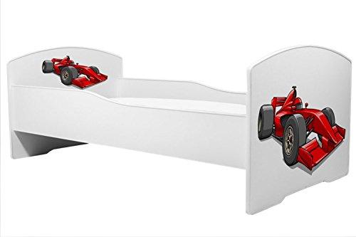 Lettino per bambini letto macchina da corsa dimensione 160x80 cm con materasso KOBI