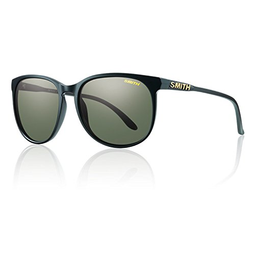 Smith Mt Shasta Sunglasses, Matte Black/Polarized Gray Green - Sunglasses Smith Com