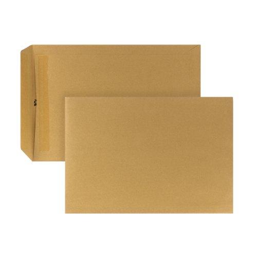 POSTHORN 04270336 Versandtasche ohne Fenster, selbstklebend, 250 Stück, C4, 229 x 324 mm, 90 g, braun