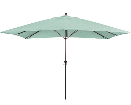 (Eclipse Collection 11'X8' Rectangular Aluminum Market Umbrella Bronze/Sunbrella/Spectrum Mist)