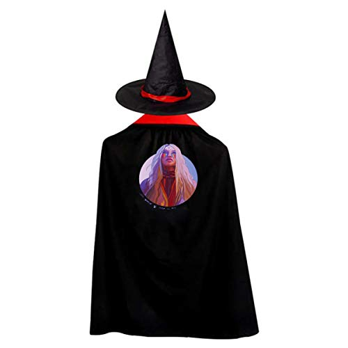 Kesha Halloween Costumes (REECECAM Kesha Adult Halloween Costumes Cape Cloak Knight Witches Vampires Cosplay S)