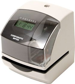 COMPUMATIC MP550 Electronic Time Stamp and Time Recorder Clock - Heavy Duty, for Payroll, Document Validation, Job Tracking
