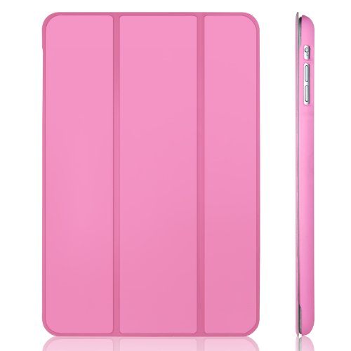 JETech Gold Serial 2nd Edition Slim-Fit Folio Auto Sleep/Wake Case for Apple Mini 1/2/3 - Pink (Pink Ipad Mini Case compare prices)