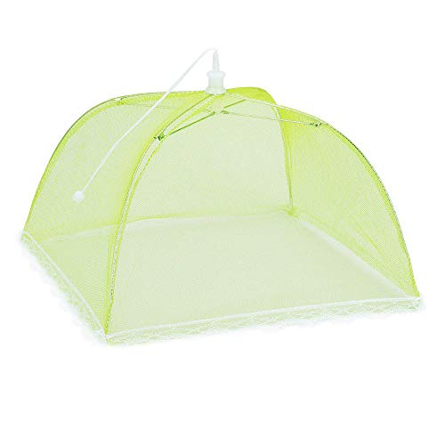Green Dome Tops - Kiorc 1 Large Pop-Up Mesh Screen Protect Food Cover Tent Dome Net Umbrella Picnic (Green)