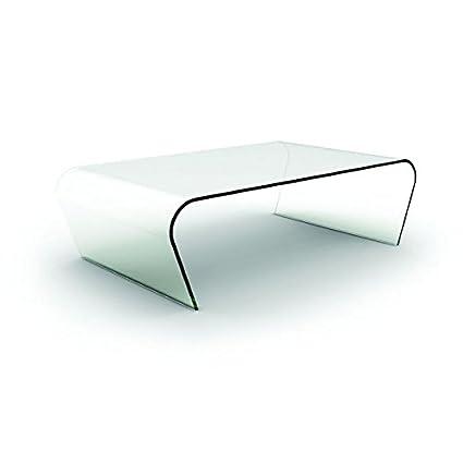 Designement Table Basse Verre Transparent 140 X 80 X 40 Cm