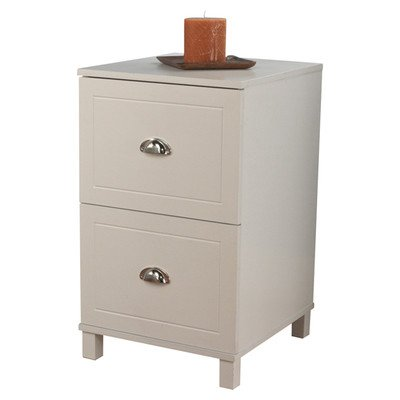 Bradley 2 Drawer Filing Cabinet Finish: Antique White