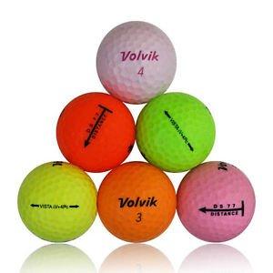 24 Volvik Color Mix Mint Used Golf Balls AAAAA
