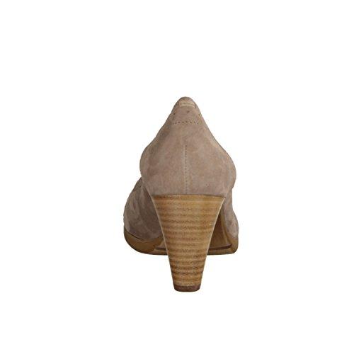 Högl 105532-690- Damenschuhe Modische Pumps/Ballerina, Beige, samtkid (Leder), Absatzhöhe: 55 mm