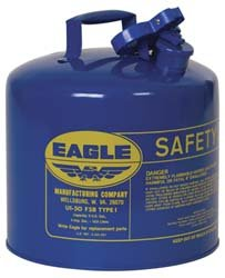 Galvanized Steel, Blue, Type I Safety Can
