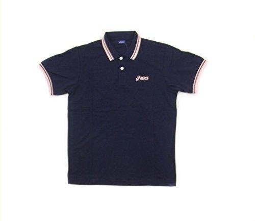 Asics SMU Polo Shirt Navy/Pink Medium