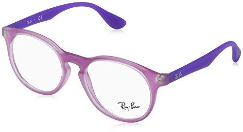 Ray-Ban RY 1554 3672 Rubber Fuxia Plastic Round Eyeglasses - Ban Ray Pictures