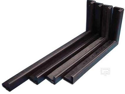 Gared Pro-Mold Recreational Backboard Padding in Black (48 in.)