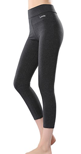 Lataly Women's Activewear Capri Yogapants Legging Workout Gym Tight Yoga Pants